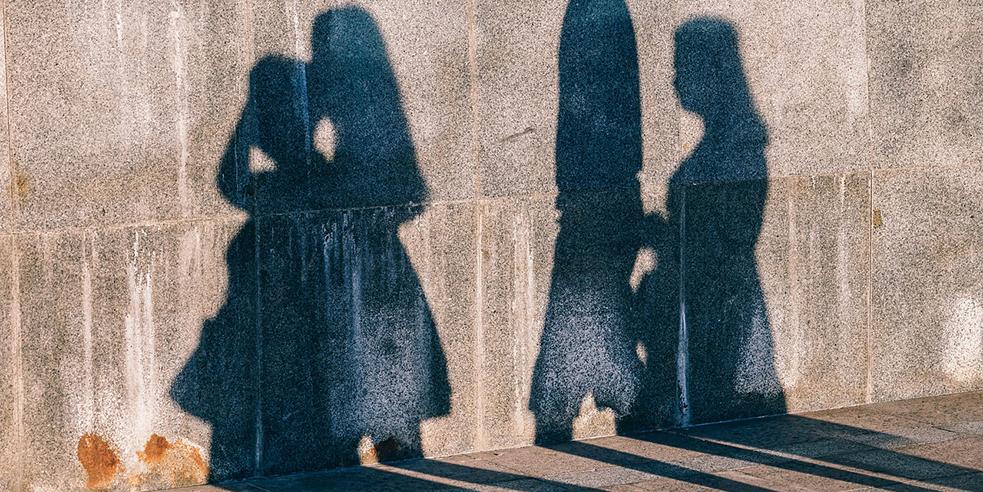 Shadows on wall